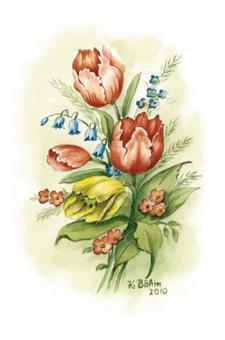 Kunstkarte - Tulpen
