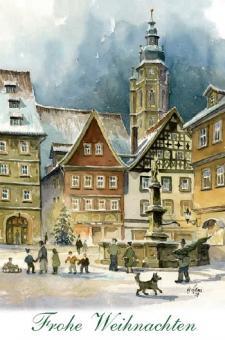 """Magnet Malerwinkel """"Frohe Weihnachten"""""""