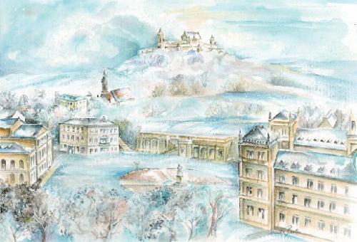 Magnet Schlossplatz mit Veste Coburg