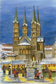 Magnet Bamberg - Weihnachtsstimmung vor dem Dom