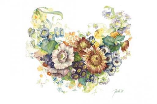 Kunstkarte - Blumenbouquet