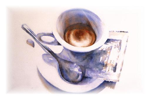 Kunstkarte - Espresso