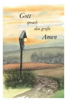 Trauerkarte - Wegkreuz bei Dietersdorf