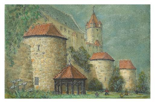 Kunstkarte Coburg - Am Wall der Veste
