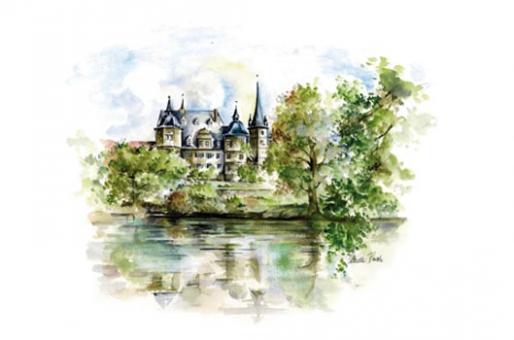 Kunstkarte Coburg - Schloss Ahorn