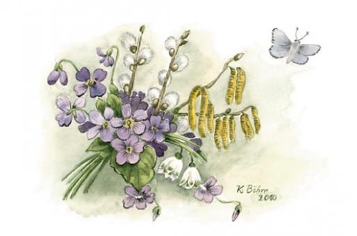 Kunstkarte - Frühlingsstrauß