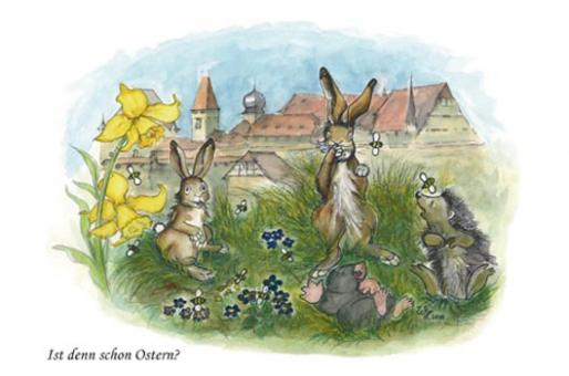 Kunstkarte - Ist denn schon Ostern?