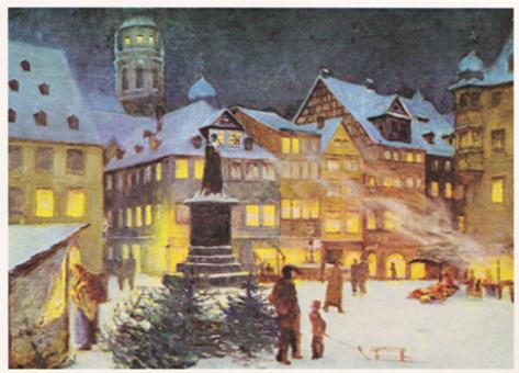 Kunstkarte Coburg - Coburger Marktplatz