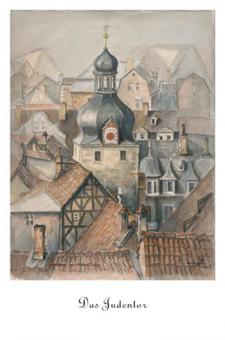 Kunstkarte Coburg - Das Judentor