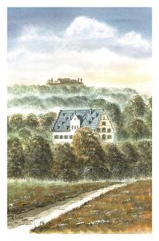 Kunstkarte Coburg - Schloss Rosenau mit Veste Coburg