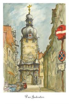 Kunstkarte Coburg - Judentor
