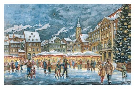 Kunstkarte Coburg - Romantischer Coburger Weihnachtsmarkt