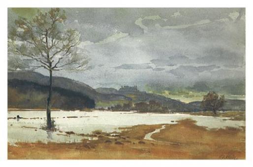 Kunstkarte Coburg - Veste von Norden