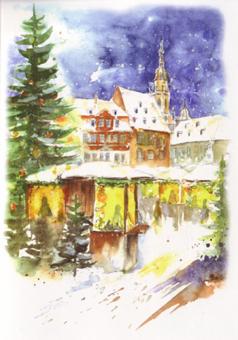 Kunstkarte Coburg - Weihnachtsmarkt
