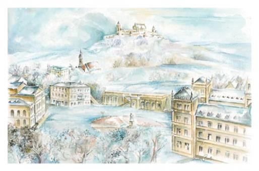 Kunstkarte Coburg - Blick über den Schlossplatz