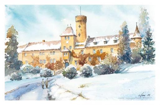 Kunstkarte Coburg - Schloss Hohenstein