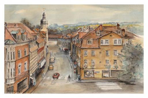 Kunstkarte Coburg - Ketschengasse