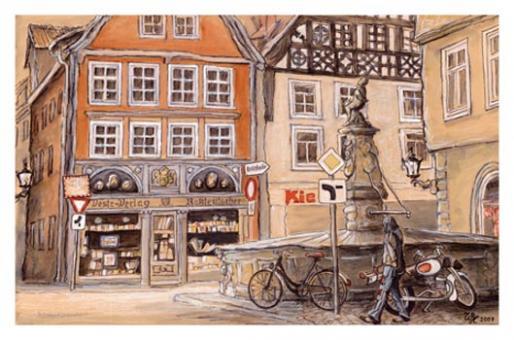 Kunstkarte Coburg - Am Rückertbrunnen