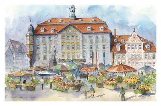 Kunstkarte Coburg - Herbstmarkt