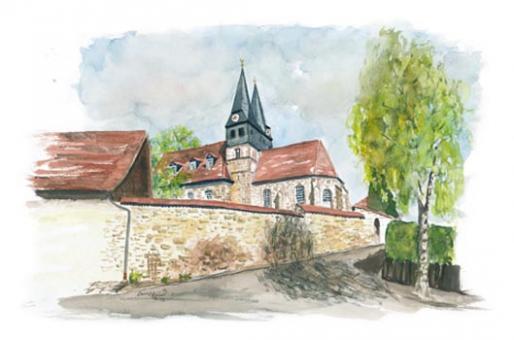 Kunstkarte Meeder - Laurentiuskirche