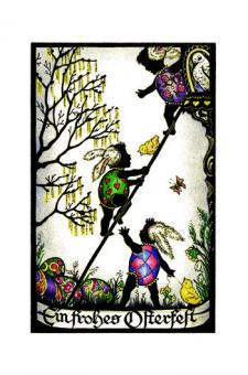 Scherenschnittkarte - Ein frohes Osterfest