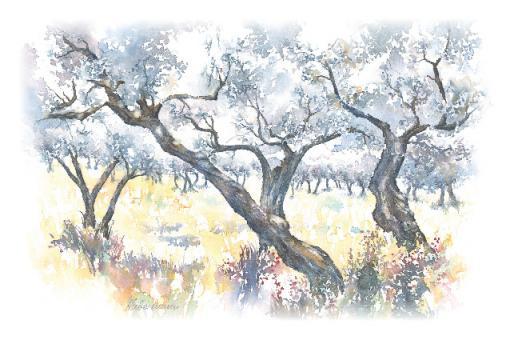 Kunstkarte - Bäume