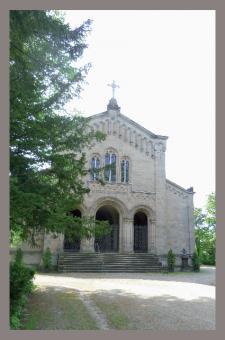 Trauerkarte - Herzogliches Mausoleum auf dem Coburger Friedhof