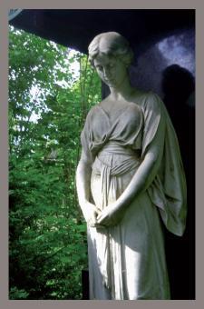 Trauerkarte - Grabmal auf dem Coburger Friedhof