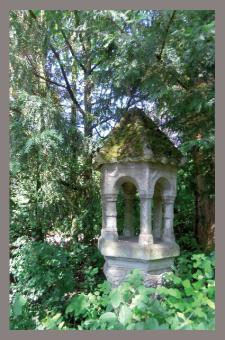 Trauerkarte - Coburger Friedhof, Vogeltränke