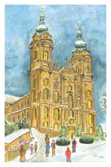 Kunstkarte Vierzehnheiligen - Weihnachtsvorfreude in Vierzehnheiligen