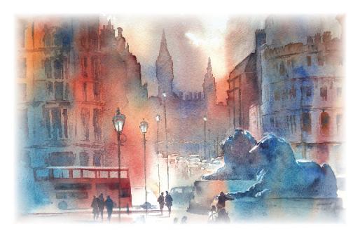 Kunstkarte - Trafalgar Square - London