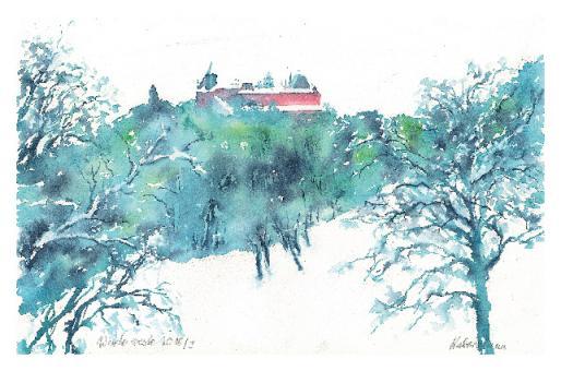 Kunstkarte Coburg - Blick vom Herzogsweg zur Veste
