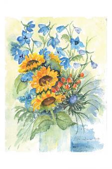 Kunstkarte - Sonnenblume