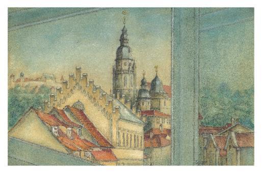Kunstkarte Coburg - Blick vom Parkhaus Zinkenwehr