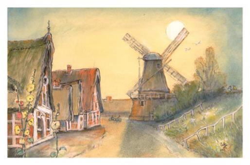 Kunstkarte - Windmühle York Borstel