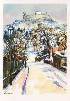 Kunstkarte Coburg - Veste - Obere Leopoldstraße