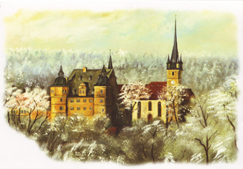 Kunstkarte Coburg - Bezauberndes Schloss Ahorn