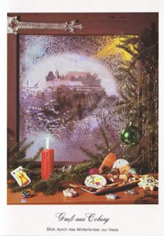 Kunstkarte Coburg - Gruß aus Coburg - Winterfenster