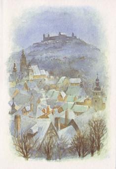Kunstkarte Coburg - Veste Coburg