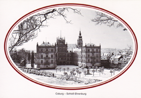 Fotokarte Coburg - Schloss Ehrenburg
