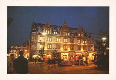 Fotokarte Coburg - Weihnachtsmarkt