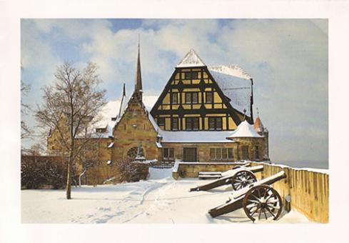 Fotokarte Coburg - Hohe Bastei der Veste Coburg