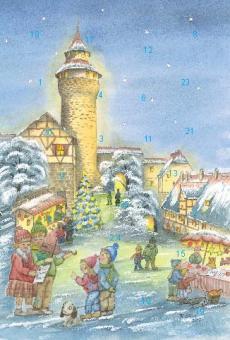 Adventskalender Nürnberg - Weihnachtsvorfreude an der Kaiserburg mit Glitzer mit Glitzer