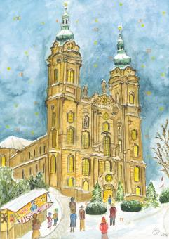 Wand-Adventskalender Vierzehnheiligen - Weihnachtsvorfreude in Vierzehnheiligen mit Glitzer mit Glitzer