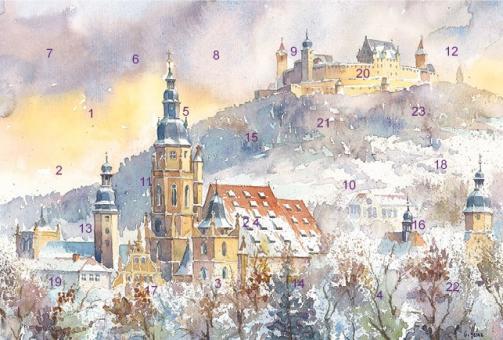 Adventskalender Coburg - Morizkirche mit Veste