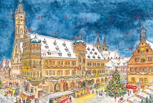 Adventskalender Rothenburg ob der Tauber - Weihnachtliche Stimmung am Reiterlesmarkt ohne Glitzer