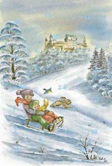 Adventskalender Coburg - Lustige Schlittenfahrt im Veilchental