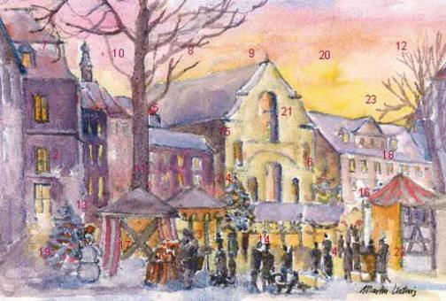Adventskalender Bamberg - Grüner Markt mit Glitzer