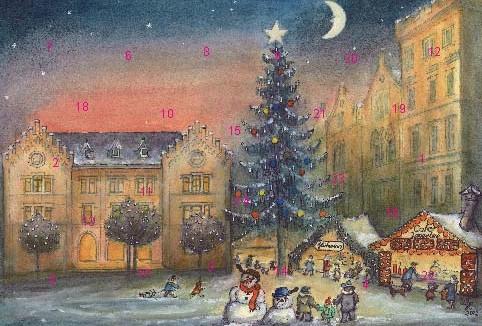 Coburg - Vorweihnachtliche Stimmung am Albertsplatz