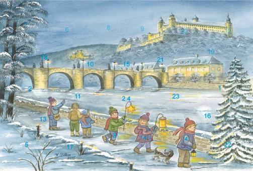 Adventskalender Würzburg - Winterspaziergang am Main
